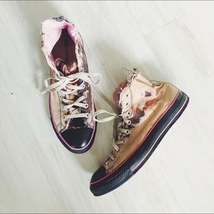Converse All Star Destroyed Tie Dye High Tops